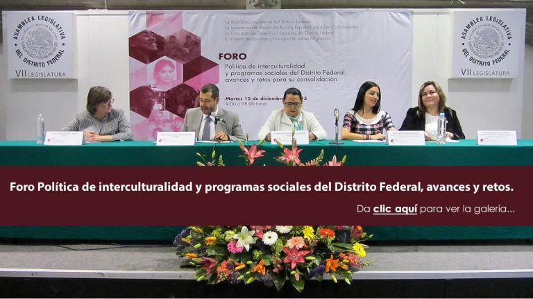 Read more about the article Forum Politics of interculturality and social programs of the Federal District, advances and challenges.